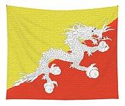 Flag Of Bhutan Wall Tapestry