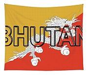 Flag Of Bhutan Word Tapestry