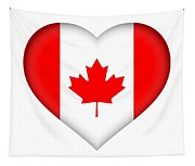 Flag Of Canada Heart Tapestry