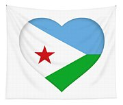 Flag Of Djibouti Heart Tapestry