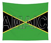 Flag Of Jamaica Word Tapestry