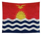 Flag Of Kiribati Texture Tapestry