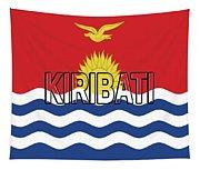 Flag Of Kiribati Word Tapestry