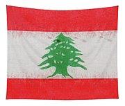 Flag Of Lebanon Grunge Tapestry