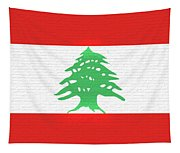 Flag Of Lebanon Wall Tapestry