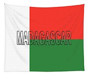 Flag Of Madagascar Word Tapestry