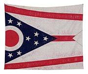 Flag Of Ohio Grunge Tapestry