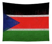 Flag Of  South Sudan Grunge Tapestry