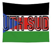 Flag Of  South Sudan Word Tapestry