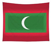Flag Of The Maldives Wall. Tapestry