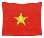 Flag Of Vietnam Grunge Tapestry