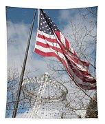 Flag Over Spokane Pavilion Tapestry