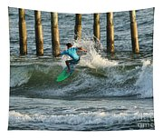 Flagler Beach Surf Day Tapestry