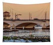 Flagler Bridge In The Evening IIi Tapestry