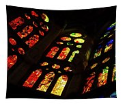 Flamboyant Stained Glass Window Tapestry