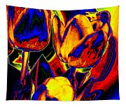 Flamboyant Tulips Tapestry