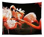 Flamingo Mingles Tapestry