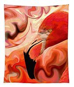 Flamingoed An Abstract In Pink Tapestry by Shelli Fitzpatrick