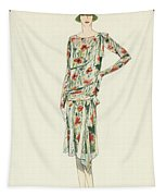 Flapper In An Afternoon Dress Tapestry