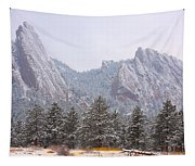 Flatirons From The South Boulder Colorado Tapestry