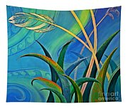 Flax Harakeke By Reina Cottier Tapestry