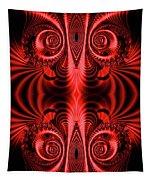 Flight Of Fancy Red Tapestry