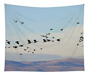 Flight Of The Waterfowl Tapestry
