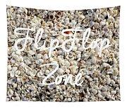 Flip Flop Zone Seashell Background Tapestry