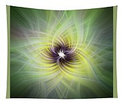 Floral Abstract Square Tapestry
