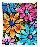 Floral Art - Big Flower Love - Sharon Cummings Tapestry