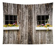 Floral Barn Planters Tapestry