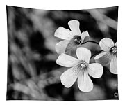 Floral Black And White Tapestry