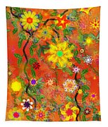 Floral Fantasy 122110 Tapestry