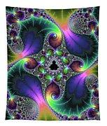 Floral Fractal Art Jewel Tones Vertical Tapestry