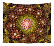 Floral Fractal Wreath  Tapestry