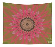 Floral Petals With Hearts Tapestry