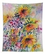Floral Symphony Tapestry