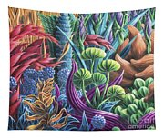 Floral Whirl Tapestry