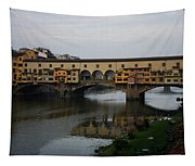 Florence Italy - An Autumn Day At Ponte Vecchio Tapestry