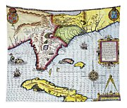 Florida: Map, 1591 Tapestry