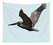 Florida Pelican In Flight Tapestry