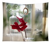 Flower And Window Tapestry