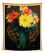 Bouquet For Mrs De Waldt H B With Decorative Ornate Printed Frame. Tapestry
