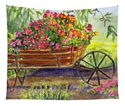 Flower Cart Tapestry