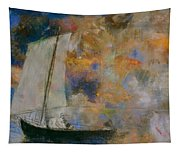 Flower Clouds Tapestry