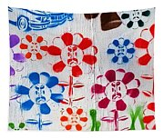 Flower Face Murial Tapestry