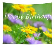 Flower Garden Birthday Card Tapestry