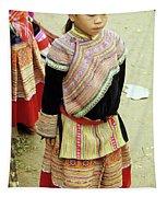 Flower Hmong Girl 04 Tapestry