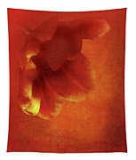 Flower In Red Tapestry