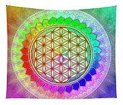 Flower Of Live - Rainbow Lotus 2 Tapestry